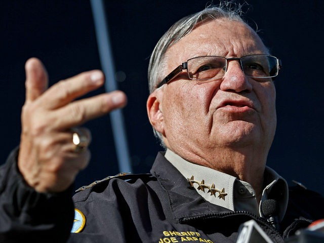 FILE - In this Jan. 9, 2013, file photo, Maricopa County Sheriff Joe Arpaio speaks to reporters in Phoenix, Ariz. The sheriff of metropolitan Phoenix has raised close to $10 million in his bid for a seventh term, a stunning collection of campaign riches for a local police race. Much …