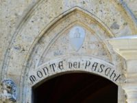 The headquarters of the Monte dei Paschi di Siena bank on July 2, 2016