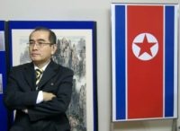 Deputy ambassador Thae Yong-Ho at a 2014 art exhibition at the North Korean embassy in London