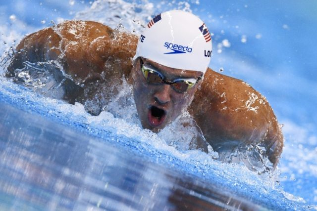 Ryan Lochte competes in a men's 200m individual medley heat in Rio on August 10, 2016