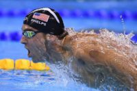 USA's Michael Phelps competes to win 200m butterfly Final during the Rio 2016 Olympic Games, on August 9