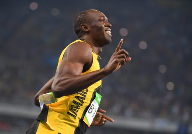 Jamaica's Usain Bolt powered over the line in 9.81sec to win the 100m gold in Rio