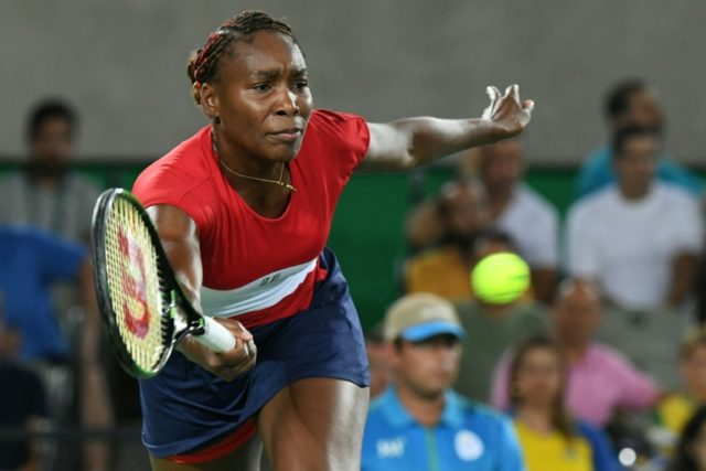 Four-time gold medallist Venus Williams, suffering with a virus, slumped to her first ever opening round loss to Belgium's Kirsten Flipkens at an Olympic Games