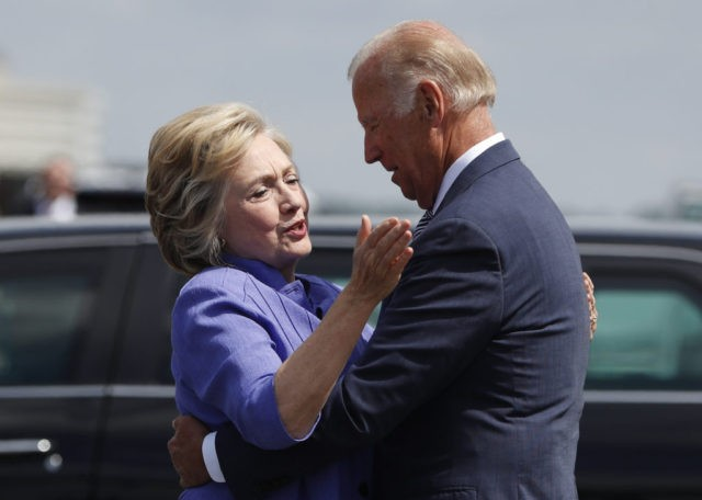 Hillary Clinton, Joe Biden