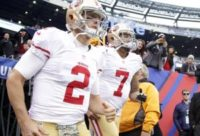"San Francisco 49ers: Blaine Gabbert and Colin Kaepernick ""even"" in QB battle"