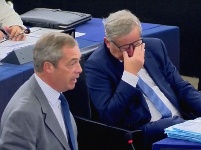 Nigel Farage Jean-Claude Juncker