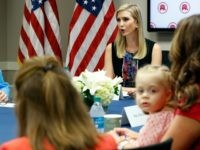 Ivanka Trump, top right, daughter of Republican presidential candidate Donald Trump, speaks during a meeting with women members of Congress at the Republican National Committee headquarters, including Abigail Beutler, 3, the daughter of Rep. Jaime Herrera Beutler, R-Wash., Tuesday, Sept. 20, 2016 in Washington. The group discussed children's issues.