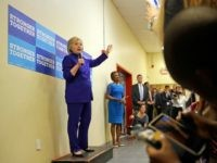 Clinton speaks during a campaign stop at the Frontline Outreach Center in Orlando, Fla., Wednesday, Sept. 21, 2016. (