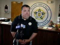 Fraternal Order of Police Lodge 5 President John McNesby pauses while speaking during a news conference, Monday, Oct. 1, 2012, at F.O.P. headquarters in Philadelphia.