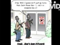Anti-gun control cartoon screenshot