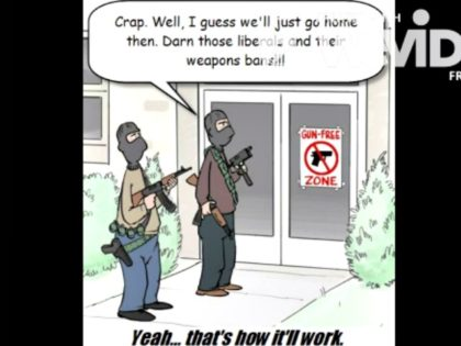 Anti-gun control cartoon screenshot