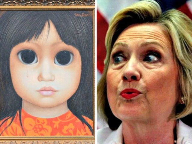 Antique Keane, Hillary Big Eyes