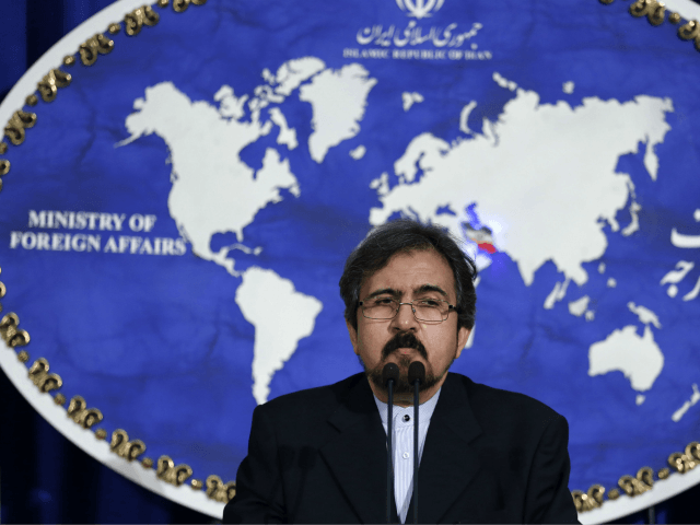 Iranian foreign ministry spokesman, Bahram Ghasemi speaks during a press conference on August 22, 2016 in Tehran. Iran said that Russian raids on Syria from one of its airbases had ended for now, shortly after accusing Moscow of 'showing off' when it revealed the bombing missions. / AFP / ATTA …