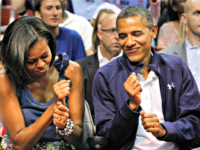 Barack and Michelle Fist Dance AP