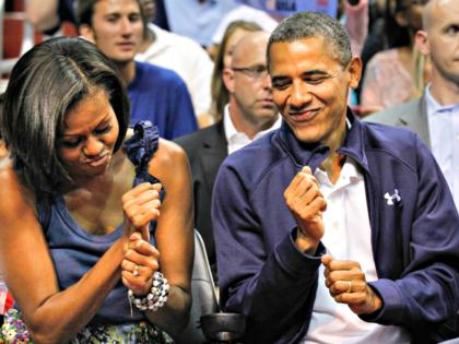 Barack and Michelle Fist Dance AP