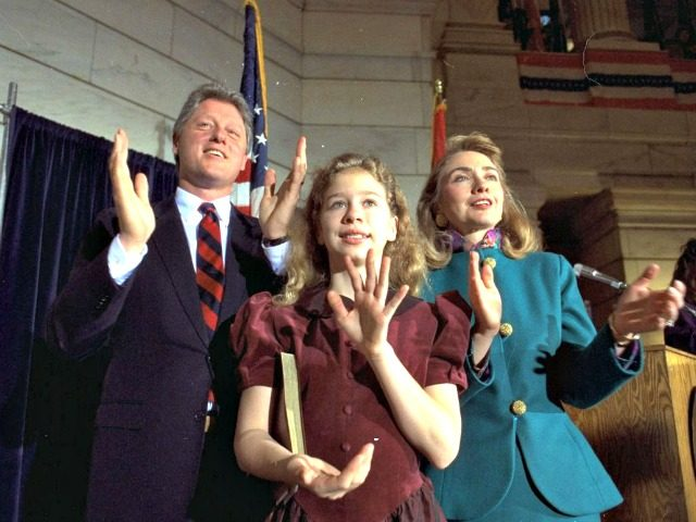 Bill, Hillary, Young Chelsea AP