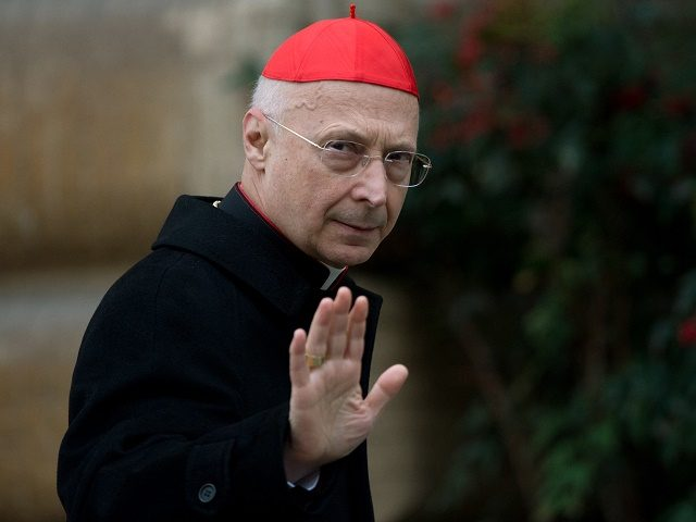 Italian cardinal Angelo Bagnasco arrives for a meeting on the eve of the start of a conclave on March 11, 2013 at the Vatican. Cardinals will hold a final set of meetings on Monday before they are locked away to choose a new pope to lead the Roman Catholic Church …