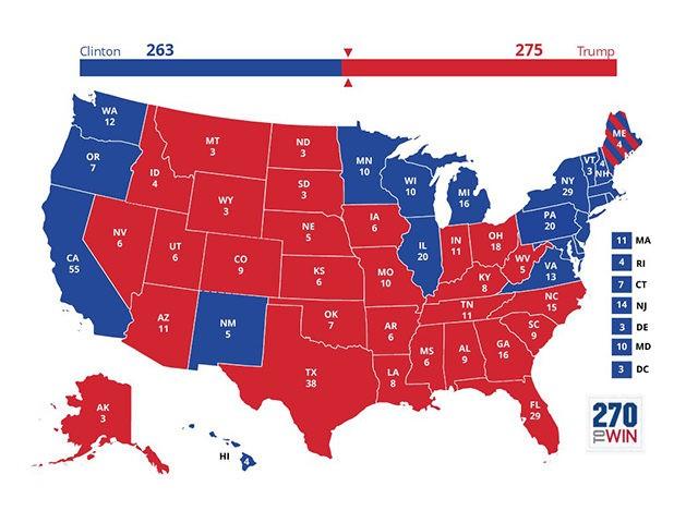 Clinton-Trump-2016-Electoral-Map-Trump-Wins