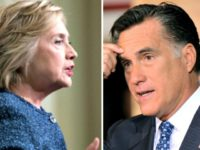 Clinton and Romney AP Photos