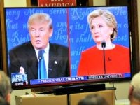 Debate Watch on a TV Getty