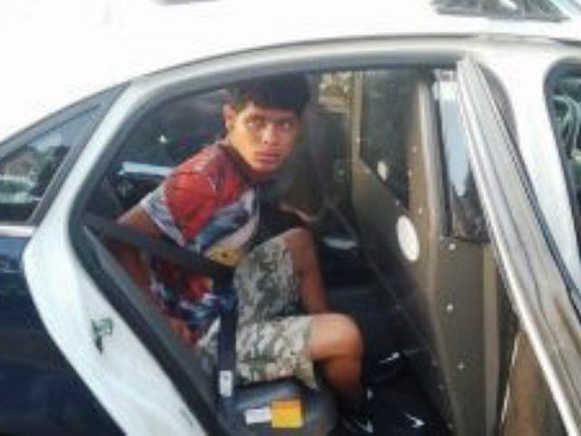 Dionis Luque-Estrada in patrol car