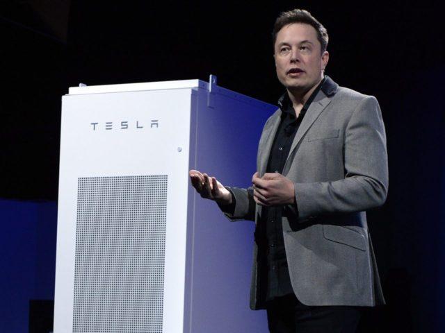 Elon Musk Tesla Battery (Kevork Djansezian / Getty)