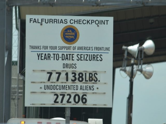 Falfurrias BP Checkpoint Sign