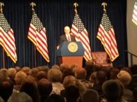 Mike Pence at Reagan Library (Joel Pollak / Breitbart News)