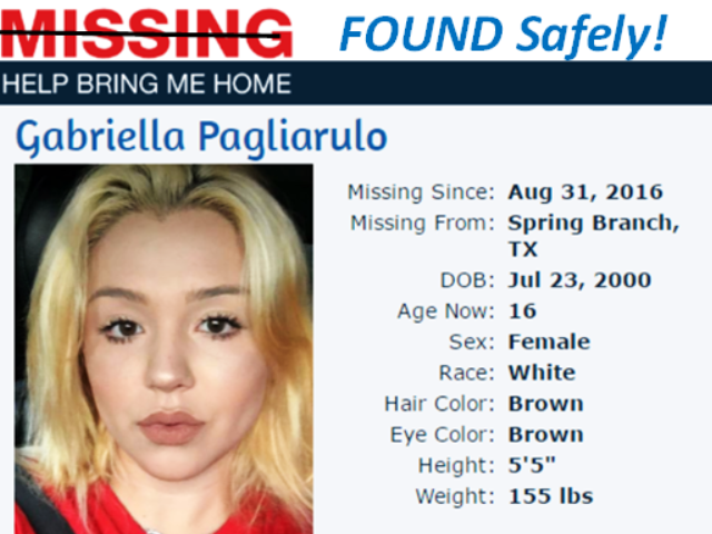 Gabby Pags found safely