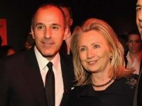 NEW YORK, NY - APRIL 24: Matt Lauer, Secretary of State Hillary Rodham Clinton Brian Williams and attend the TIME 100 Gala, TIME'S 100 Most Influential People In The World, cocktail party at Jazz at Lincoln Center on April 24, 2012 in New York City. (Photo by Larry Busacca/Getty Images …