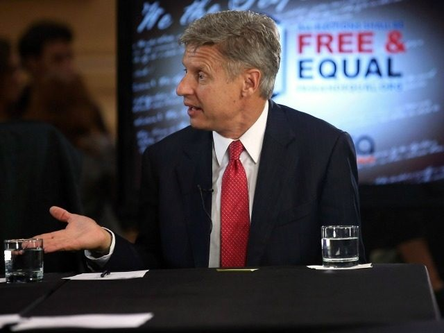 Libertarian Party candidate Gary Johnson October 23, 2012 in Chicago.