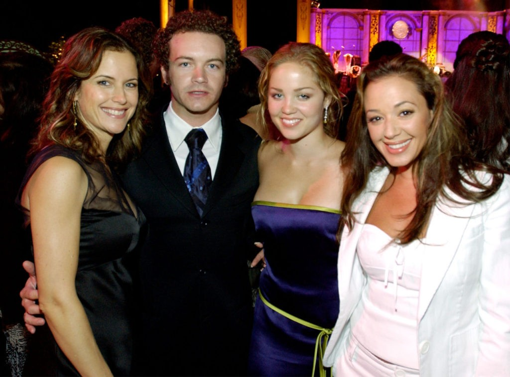 Actors Kelly Preston, Danny Masterson, Ericka Christensen and Leah Remini attend the Church of Scientology Celebrity Centre's 34th Annual Anniversary Gala at the Church of Scientology Celebrity Centre August 2, 2003 in Hollywood, California. (COS via Getty Images)