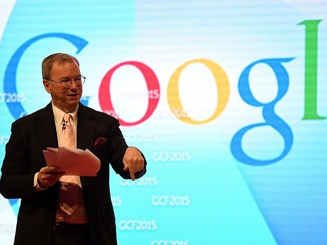 Google's Executive Chairman, Eric Schmidt adresses the 9th Global Competitiveness Forum (GCF2015), held in Riyadh, on January 26, 2015. Saudi Arabia's new leadership will push forward efforts to diversify the growing but oil-dependent economy, while easing procedures for investors, senior officials said. The annual event, organised by Saudi Arabian General …