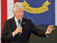 DURHAM, NC - SEPTEMBER 6: Former U.S. President Bill Clinton speaks at the Community Family Life & Recreation Center at Lyon Park on September 6, 2016 in Durham, North Carolina. Clinton spoke on wife, Democratic presidential nominee Hillary Clinton's plan for the economy. (Photo by Sara D. Davis/Getty Images)