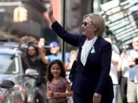 NEW YORK, NY - SEPTEMBER 11:  Democratic presidental nominee former Secretary of State Hillary Clinton leaves the home of her daughter Chelsea Clinton on September 11, 2016 in New York City. Hillary Clinton left a September 11 Commemoration Ceremony early after feeling overheated and went to her daughter's house to rest.  (Photo by Justin Sullivan/Getty Images)