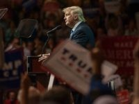 Republican Presidential candidate Donald Trump speaks during a campaign rally at the Canton Memorial Civic Center on September 14, 2016 in Canton, Ohio.
