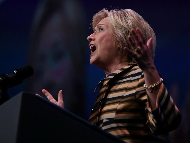 Democratic presidential nominee former Secretary of State Hillary Clinton speaks during the Congressional Hispanic Caucus InstituteÕs 39th Annual Gala Dinner on September 15, 2016 in Washington, DC.