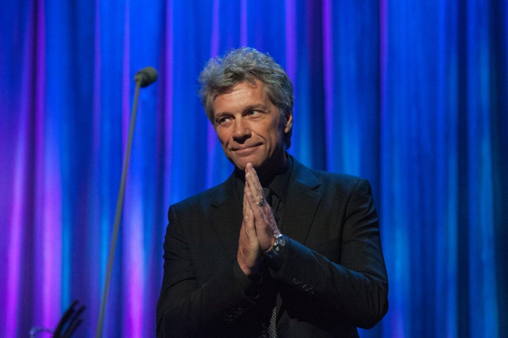 Jon Bon Jovi, Chairman of the JBJ Foundation speaks at the Clinton Global Citizens Awards during the Clinton Global Initiative Annual Meeting on September 19, 2016 in New York City. (Stephanie Keith/Getty Images)