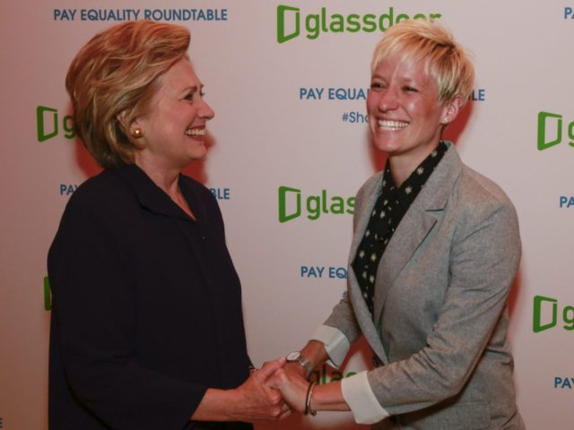 Hillary Clinton and Megan Rapinoe (Mark von Holden / Associated Press)
