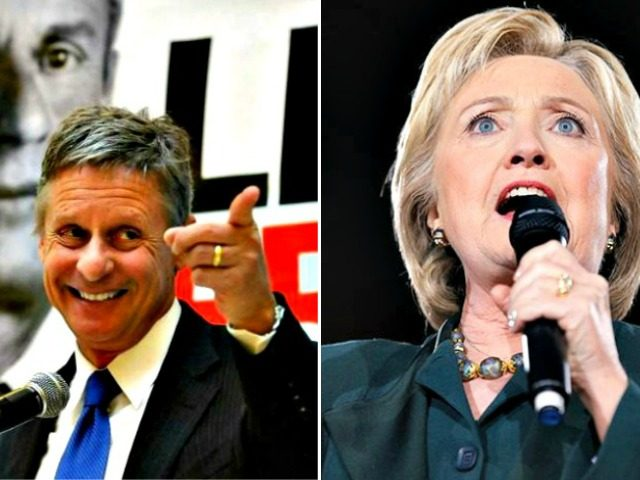 Hillary, Gary Johnson AP