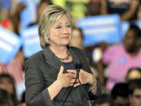 Hillary Hands Heart AP