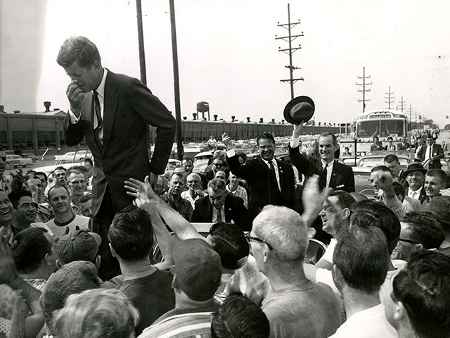 John F. Kennedy in Muncie, Indiana, in the early 1960s. (Reuters/Courtesy of Ball State University Libraries)