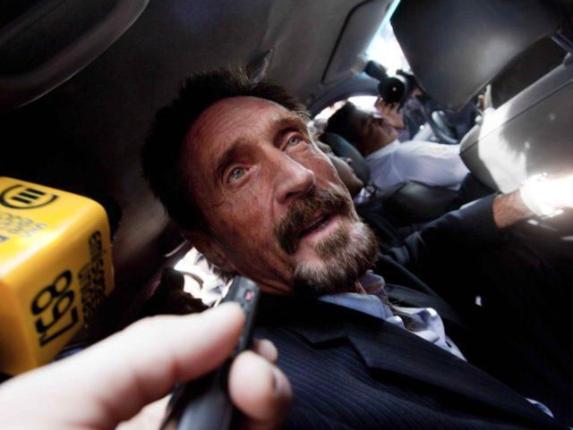 John McAfee (Moises Castillo / Associated Press)