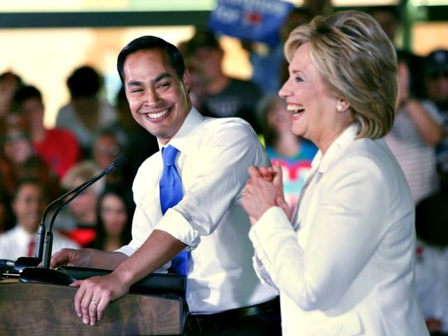 Julian Castro and Hillary Erich SchlegelGetty Images