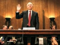 WASHINGTON, DC - APRIL 15: IRS Commissioner John Koskinen is sworn in before testifying before a Senate Homeland Security and Governmental Affairs Committee on Capitol Hill April 15, 2015 in Washington, DC. On the sixtieth anniversary of the Internal Revenue Services April 15th deadline the committee is hearing testimony on …