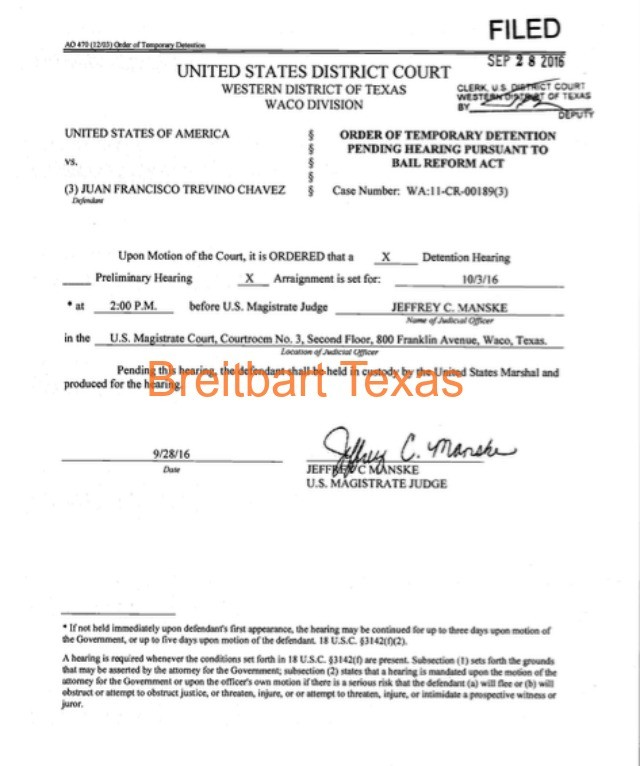 Kiko Detention Order