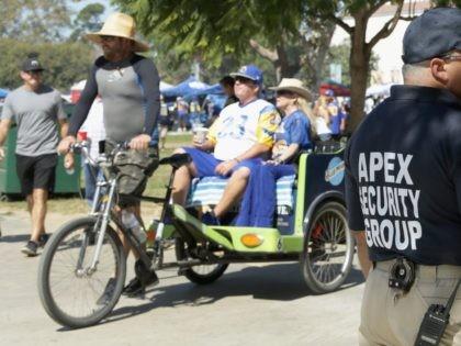 Los Angeles Rams transport (Jeff Gross / Getty)