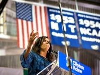 PHILADELPHIA, PA - SEPTEMBER 28: US First Lady Michelle Obama campaigns for democratic presidential nominee Hillary Clinton at Lasalle University on September 28, 2016 in Philadelphia, Pennsylvania. Michelle Obama speaks about what is at stake in November and urges Pennsylvanians to vote. (Photo by Jessica Kourkounis/Getty Images)