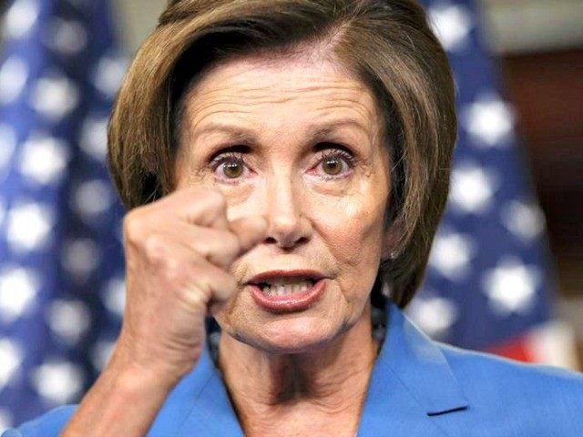 Nancy Pelosi fist
