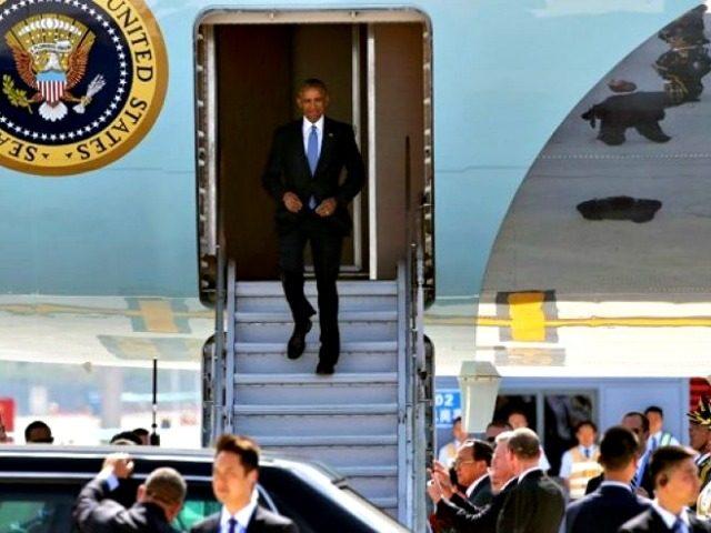 Obama Arrives in China